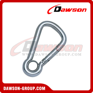 Stainless Steel Oblique Angle Snap Hook with Eyelet