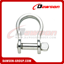 Stainless Steel Plate Bow Shackle