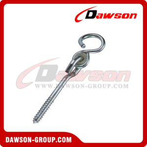 Swing Hook With Bolt Iron Thread Zinc Plated