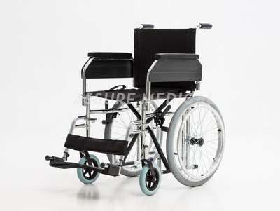 "YJ-BL07D Steel Manual Wheelchair, 20"" Spoke Wheel"