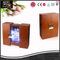 Wine Box Manufacturer Brown Vintage Leather LED Light Box For Wine