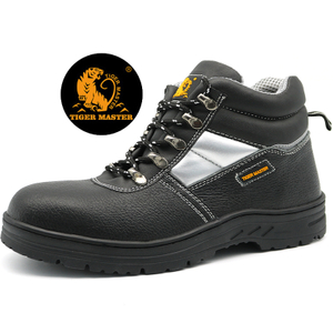 Oil Resistant Cemented Construction Oil Field Safety Shoes Steel Toecap