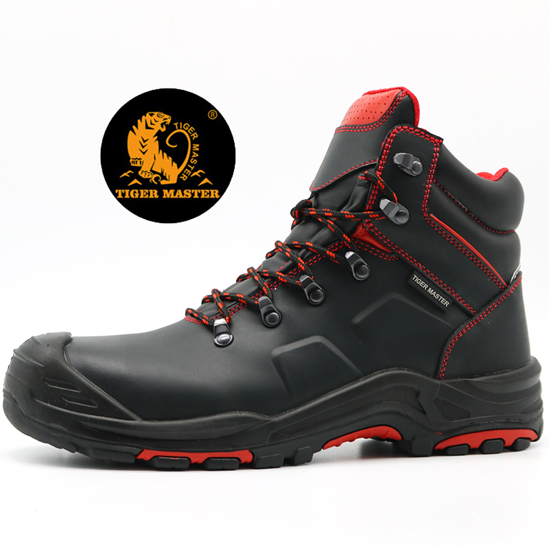 Anti Slip Oil Water Resistant Puncture Proof Safety Boots Composite Toe