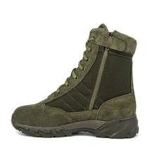 Olive tactical zip leather desert boots 7254