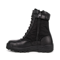 High ankle combat tactical shoes boots with zipper 4241
