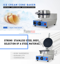 HCB-861 1-Head Electric Cone Baker made of flamemax in Foshan China
