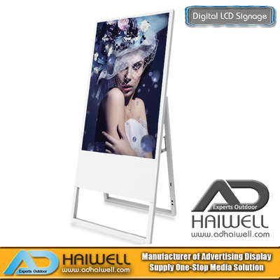 "43"" Ultra Slim Portable Digital Poster Indoor LCD Display Ads Boards"