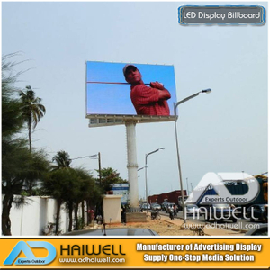 Außen Unipole SMD LED-Screen-Display Advertising Billboard Struktur