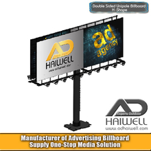 Double Sided H Type Outdoor Advertising Billboard Hoarding Display