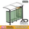 Bus Stop Shelter with Mupi Advertising Light Box