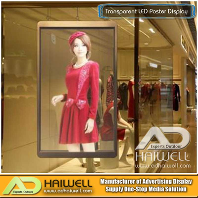 Large Glass Window Transparent LED Poster Display