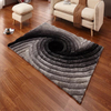 3D Hand Tufted Shag Carpet Gradient Grey Floor Rug