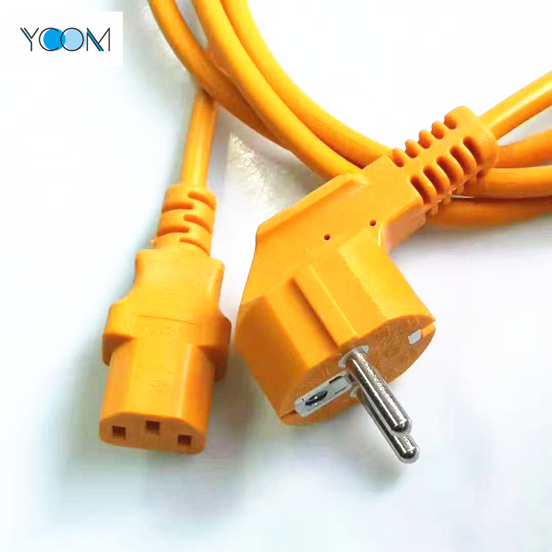 EU AC Power Extension Cord