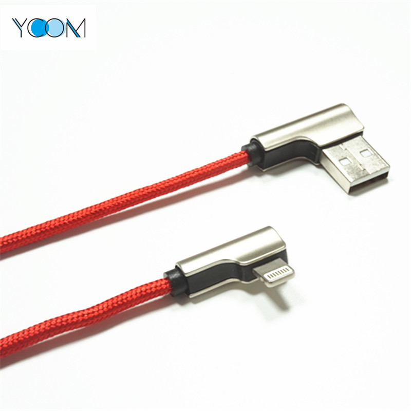 90 Degree USB Charging Cable for IPhone