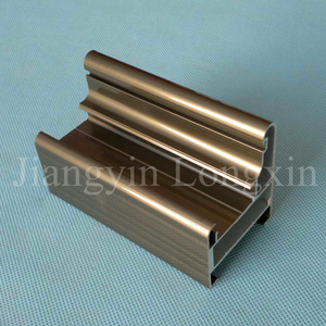 Bronze Anodized Aluminum Profile for Doors
