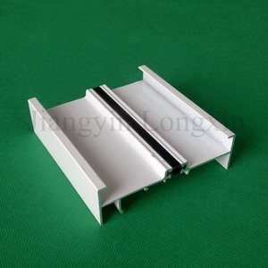 White Powder Coating Aluminium Frame for Windows, Thermal Break