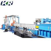 High Speed 30kw Industrial Twin Screw Plastic Compound Granulator PVC Machine