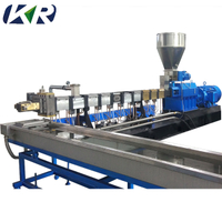 Mini Color Masterbatch Plastic Pellet Polymer Compound Twin Screw Extruder Machine
