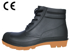 Waterproof and chemical resistant ankle pvc safety boots