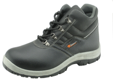 PU upper PVC sole work safety boots with reflective stripe