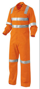 Orange High Visilibity reflective safety flame retardant coverall garments