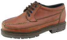 Waxy full grain leather safety shoes
