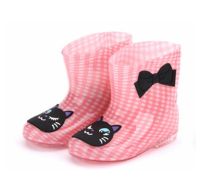 666-3 fashionable ankle pvc rain boots for kids