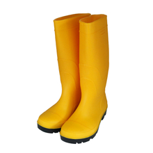109Y cheap safety rain boots with steel toe and steel plate for $4