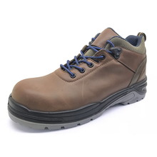 ENS011 leather anti static steel toe men work shoes
