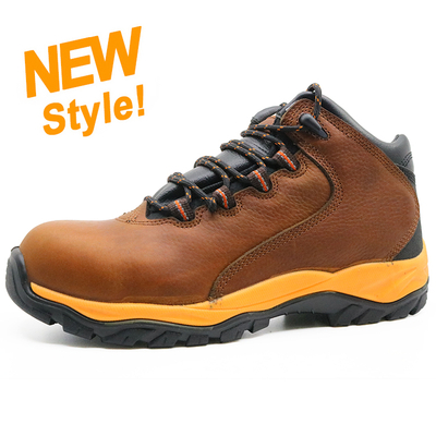 ENS022 Genuine leather pu sole construction safety shoes boot