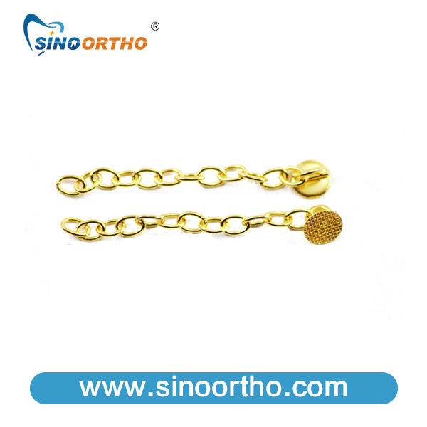 Extrusion Chain w/hook 18K gold plating