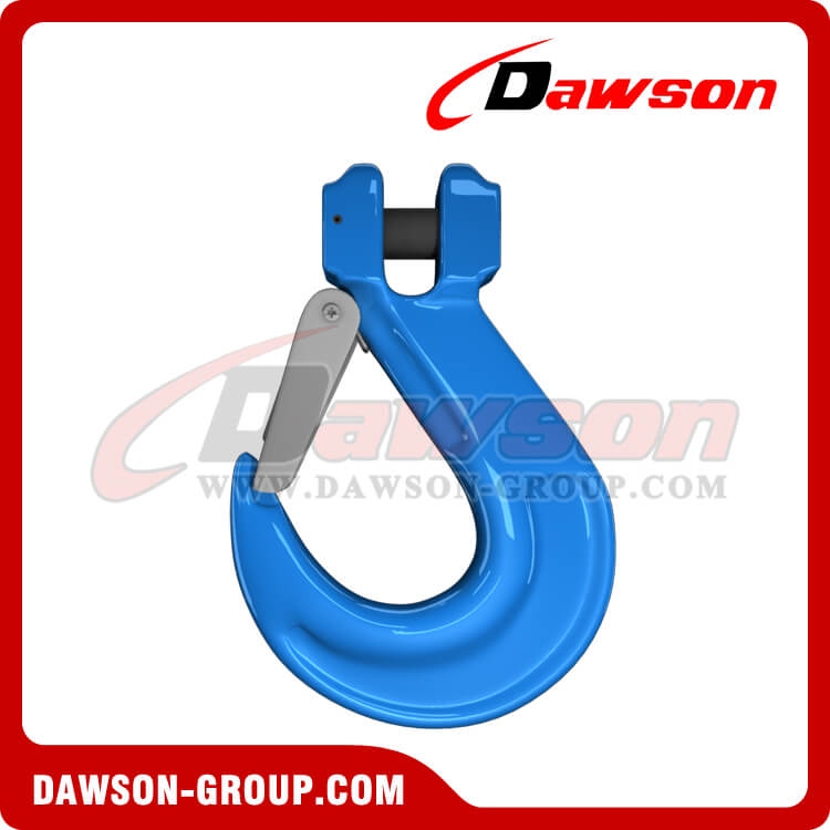 G100 Clevis Sling Hook with Cast Latch, Forged Clevis Sling Hook - China Supplier