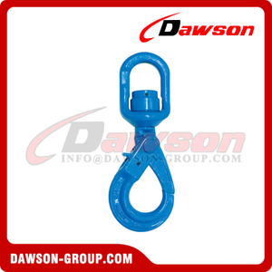 DS1072 G100 Swivel Self-locking Hook with Bearing for Chain Slings