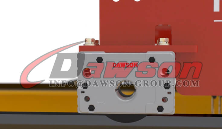 Application of Wheel Block Drive System with Gear Motor for Crane Traveling - Dawson Group Ltd. - China Factory
