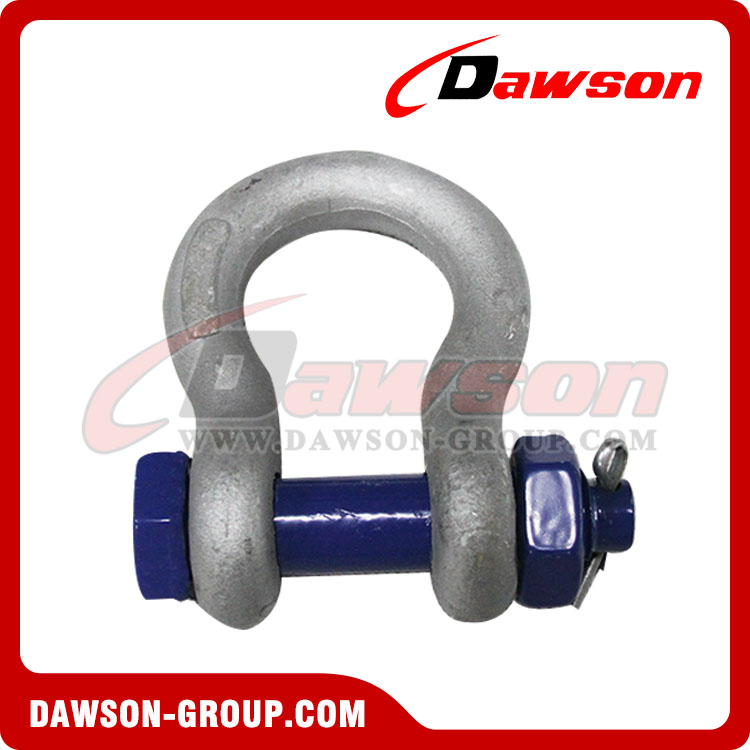 Forged Steel US Type Bow Shackle with Safety Pin - China Factory