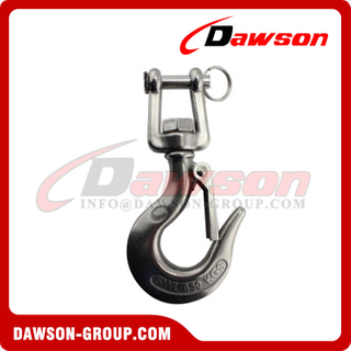 Stainless steel jaw swivel crane hook