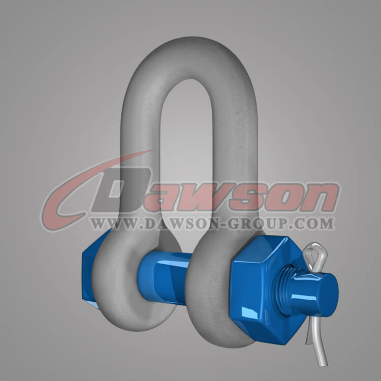 Dawson Brand Hot Dip Galvanized US Type Chain Shackle with Safety Pin - China Exporter