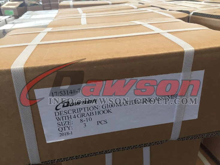 Package of G100 Master Link Assembly with 4 Grab Hook - Dawson Group Ltd. - China Supplier
