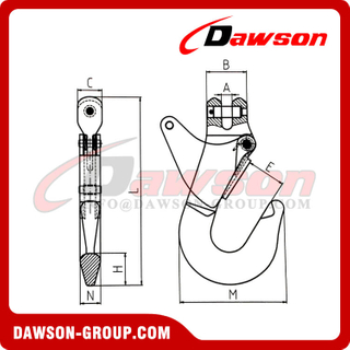 DS851 KB Type Clevis Container Hook for Lifting