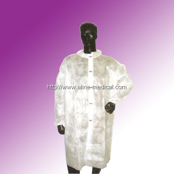 Lab Coat with Korean Collar
