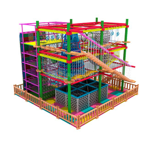 Commercial Amusement Park Indoor Adventure Ropes Course for Kids