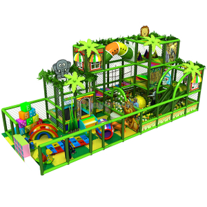Jungle Themed Three Levels Amusement Soft Indoor Playground Equipment for Kids