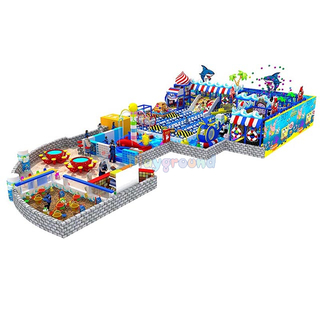 Ocean Theme Amusement Park Soft Kids Indoor Playground with Ball Pit