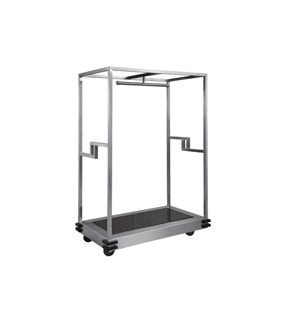 Sand Grain Steel Baggage Trolley for Hotel Lobby