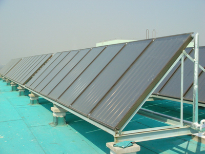 Flat Plate Solar Water Heating Collector System