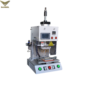 Benchtop Type Automatic Sliding Table Heat Staking Machine with Guarding for Stainless Steel & Brass Inserts Installation