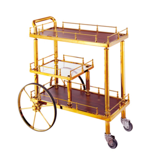 Three Layers Service Trolley with Four Wheels (FW-38)