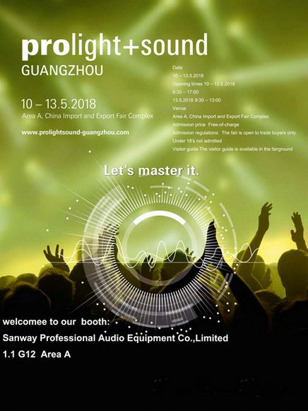 Prolight + Sound Guangzhou 2018 10-13 Mai
