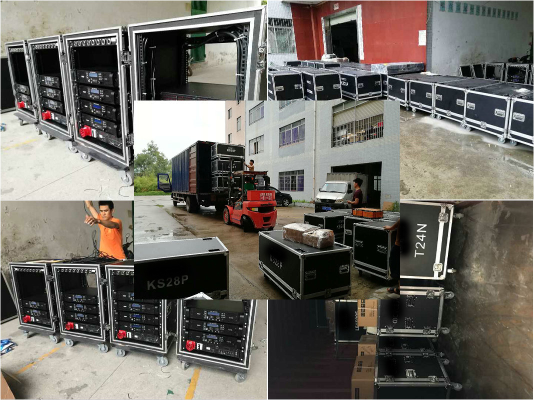 Sanway Audio 1x40HQ Container Speakers and Amplifiers Ship to America