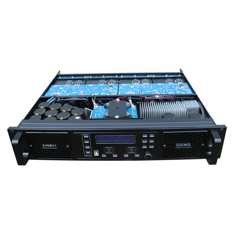 power amplifier D20KQ 4x4000W 4CH DSP